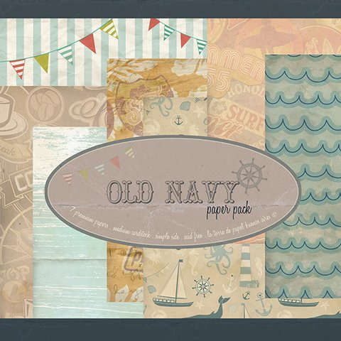 OLD NAVY - PACK DE 7 PAPELES 30X30 CM