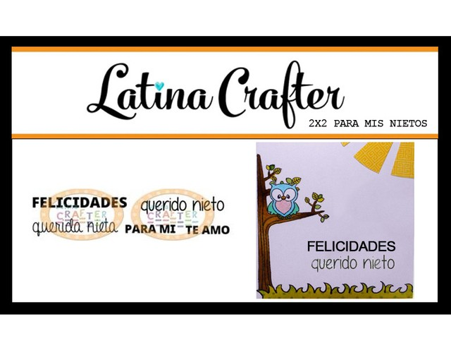 LATINA CRAFTER CLEAR STAMP PARA MIS NIETOS