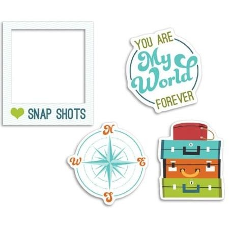 Perfect Vacation Cardstock Die-Cuts 12/Pkg Oh Snap (D) - comprar online