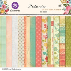 PRIMA MARKETING PETUNIA - PACK DE 16 PAPELES 30x30 CM