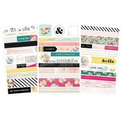 C'est La Vie Washi Shape Stickers 3/Sheets - comprar online