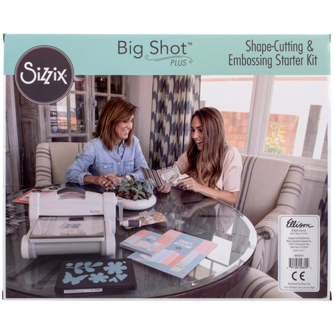 Sizzix Big Shot Plus Starter Kit (US Version) / Sizzix Big Shot Pluis Máquina de Corte y Repujado Color Blanca y Gris Kit Incluído versión UK - comprar online