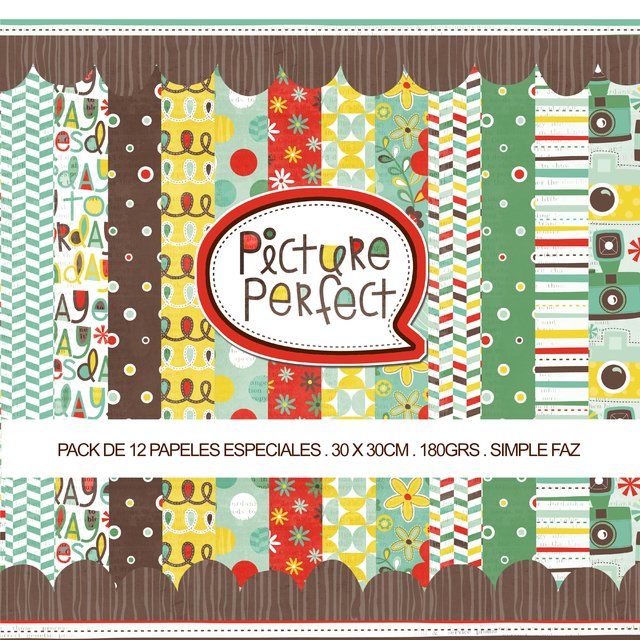 PICTURE PERFECT - PACK DE 12 PAPELES 30x30 CM