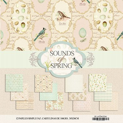 SOUNDS OF SPRING - PACK DE 12 PAPELES 30X30 CM