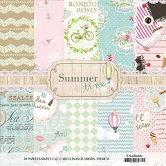 LAURA BAGNOLA  - SUMMER TIME - PACK DE 10 PAPELES 30X30 CM