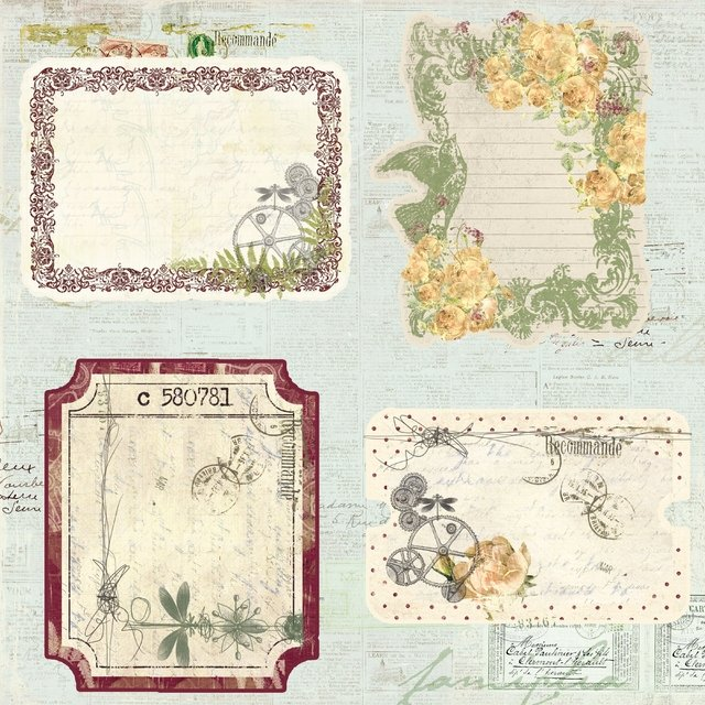 PRIMA MARKETING BOTANICAL - PACK DE 24 PAPELES 30X30 CM - TheCraftyShop