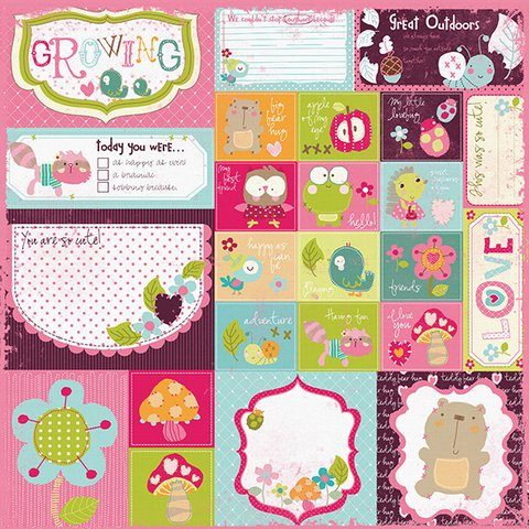 PRIMA MARKETING SO CUTE GIRL - PACK DE 8 PAPELES 30X30 CM - Laura Bagnola