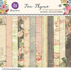 PRIMA MARKETING TEA THYMES - PACK DE 16 PAPELES DE 30X30 en internet