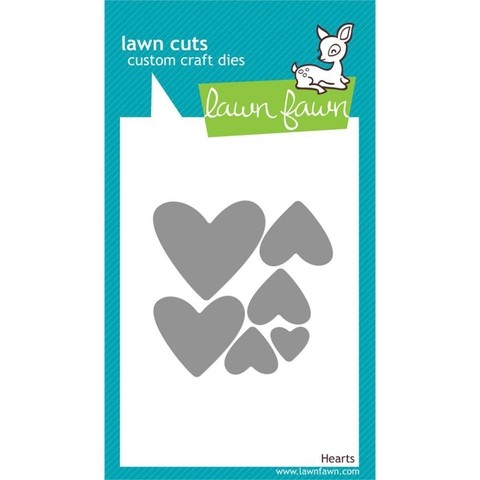 Lawn Fawn Cuts Custom Craft Die Hearts / Cortante Corazones