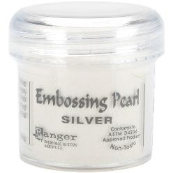 Ranger Embossing Pearls Powder 1oz Silver Pearl