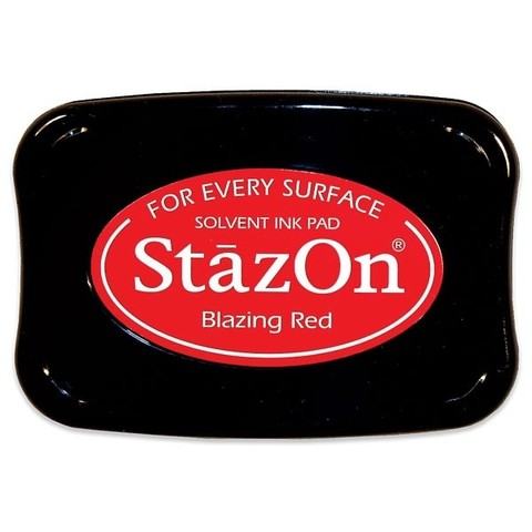 Tsukineko StazOn Solvent Ink Pad Red