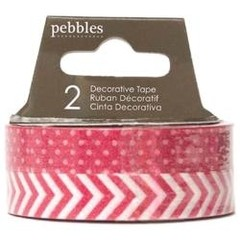 "Basics Washi Tape .375""X21yd 2/Pkg Rouge / Cinta Washi tape Duo Color Rouge 20 metros en total - comprar online"
