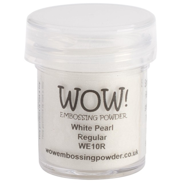WOW! Embossing Powder Ultra High 15ml White Pearl Regular - comprar online