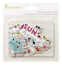 Welcome Spring Cardstock Die-Cuts 12/Pkg Sunshine (D) en internet