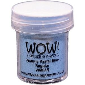 WOW! Embossing Powder Ultra High 15ml Opaque Pastel Blue - comprar online