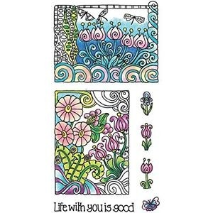 Coloring Clear Stamps By Hampton Art.