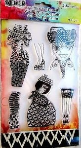 "Dylusions Stamp & Stencil By Ranger ""Girls and Shoes"" - Laura Bagnola Crafts"