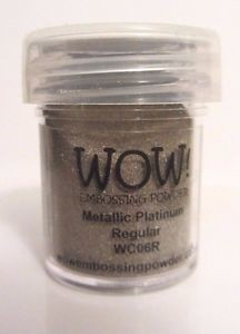 WOW! Embossing Powder Ultra High 15ml Metallic Platinum