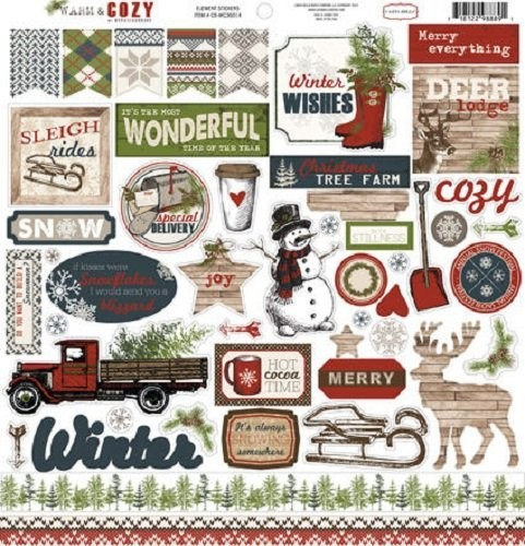 CARTA BELLA Warm & Cozy Cardstock Stickers 12