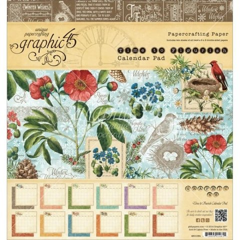 Graphic 45 Collection 8x8 Time to Flourish Calendar