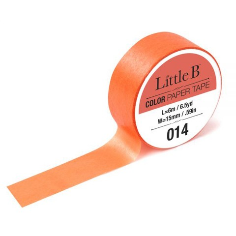LITTLE B CINTA DECORATIVA WASHI TAPE COLORLIGHT CADIUM ORANGE