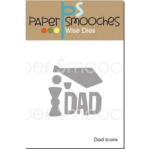 Paper Smooches Die Dad Icons / Cortante Icono Papa en internet