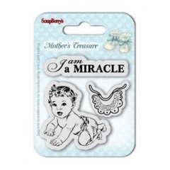 "ScrapBerry's Mother's Treasure Clear Stamps  / Sellos ScrapBerry´s Tesoro de Madre ""Soy un Milagro"" en internet"