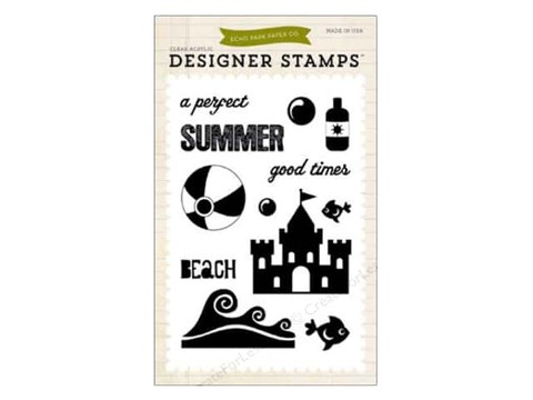 Echo Park Clear Stamp Set Summer Perfect Summer - comprar online