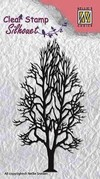 "NELLIE'S CHOICE Silhouette Clear Stamps ""tree-2"" (5,3x9,5cm) / Sello Arbol 2 - comprar online"