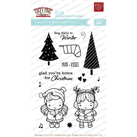 THE GREETING FARM CLEAR STAMPS SING HELLO - comprar online