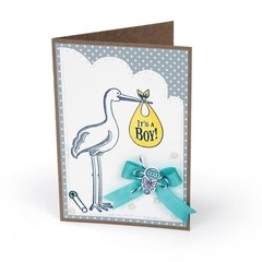 "Sizzix Interchangeable Clear Stamps / Sellos Sizzix ""Stork Announcements"" en internet"