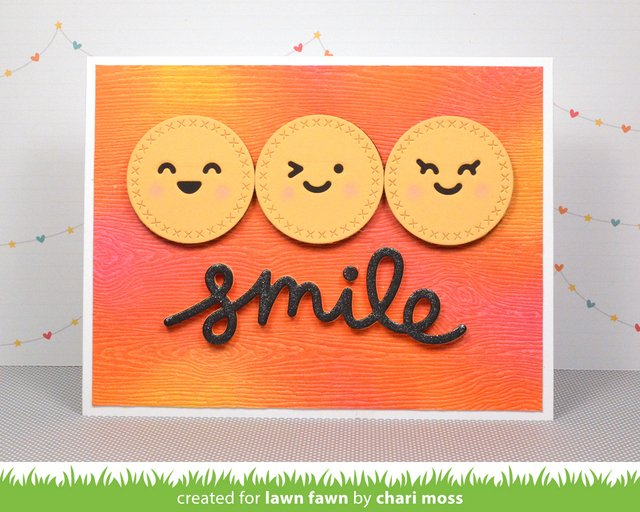 Lawn Fawn Cuts Custom Craft Die Scripty Smile / Cortante Texto Sonrisa en internet