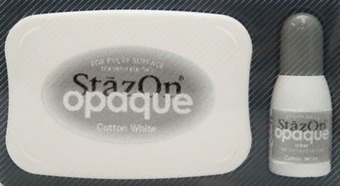 Tsukineko StazOn opaque inkpad set cotton white