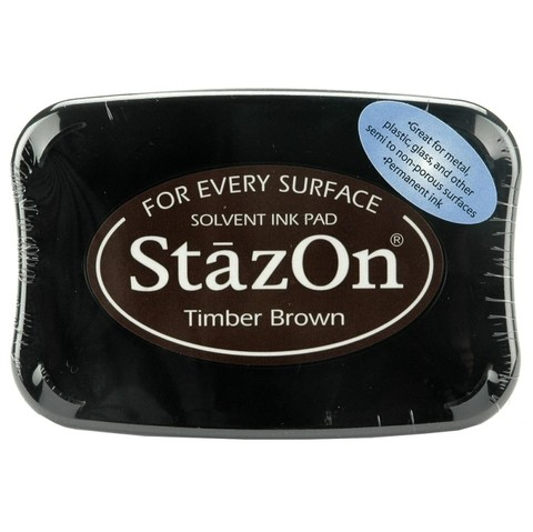 Tsukineko StazOn Solvent Ink Pad Timber Brown