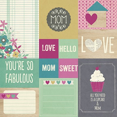 Imagen de SIMPLE HEY MOM! PACK DE 13 PAPELES 30x30 CM