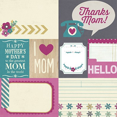 SIMPLE HEY MOM! PACK DE 13 PAPELES 30x30 CM - comprar online