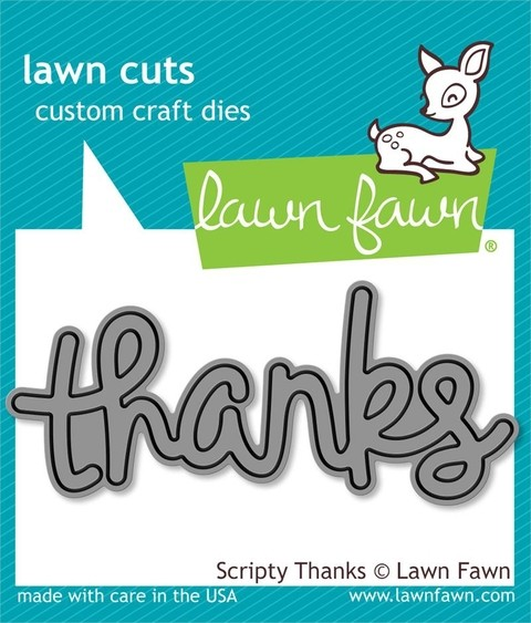 Lawn Fawn Cuts Custom Craft Die Scripty Thanks / Cortante Texto Gracias
