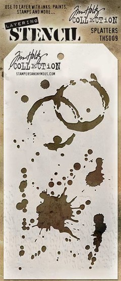 "Tim Holtz Layered Stencil 4.125""X8.5"" Splatters"