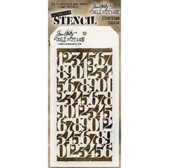 "Tim Holtz Layered Stencil 4.125""X8.5"" Countdown"