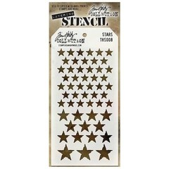 "Tim Holtz Layered Stencil 4.125""X8.5"" Stars"