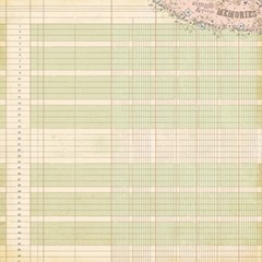 PRIMA MARKETING LEDGER Number 1 - PACK DE 12 PAPELES 30x30 CM - Laura Bagnola Crafts