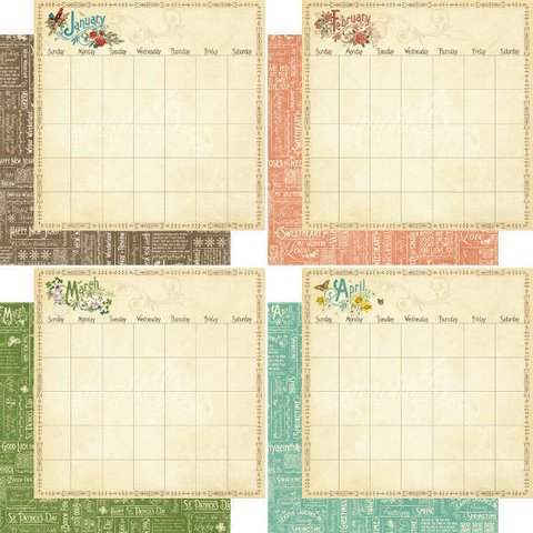 Graphic 45 Collection 8x8 Time to Flourish Calendar en internet