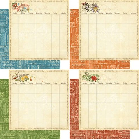 Graphic 45 Collection 8x8 Time to Flourish Calendar - comprar online