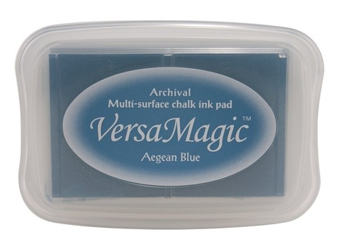 Tsukineko VersaMagic(TM) Pigment Ink Stamp Pad Large Aegean Blue