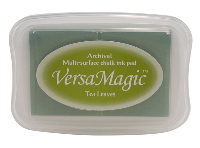 Tsukineko VersaMagic(TM) Pigment Ink Stamp Pad Large Tea Leaves