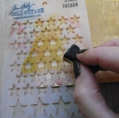 "Tim Holtz Layered Stencil 4.125""X8.5"" Stars - Laura Bagnola Crafts"