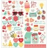 STICKERS - PB - WE GO TOGETHER - 6 X 12 - ICONS & PHRASES (60 PIECE) en internet