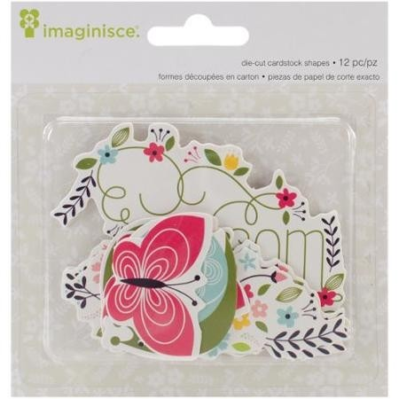 Welcome Spring Cardstock Die-Cuts 12/Pkg Blossom
