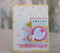 American Crafts Embossing Folder Dear Lizzy Daydreamer A2 Banners - Laura Bagnola Crafts