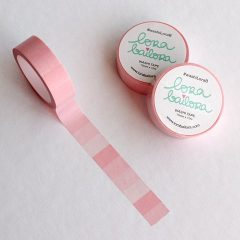 WASHI TAPE DEGRADADO ROSA PASTEL LORA BAILORA